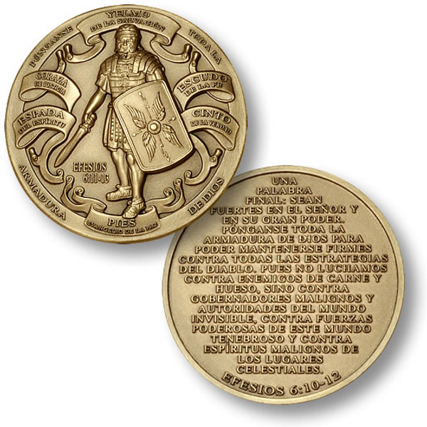 Armor of God High Relief (Spanish Version) Challenge Coin