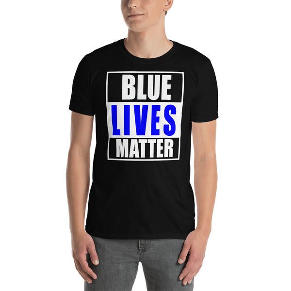 Blue Lives Matter Short-Sleeve Unisex T-Shirt