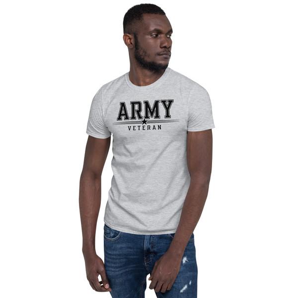 Army Veteran (Black Design) Short-Sleeve Unisex T-Shirt