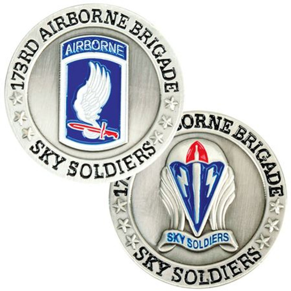 U.S. Army 173rd Airborne Brigade Challenge Coin