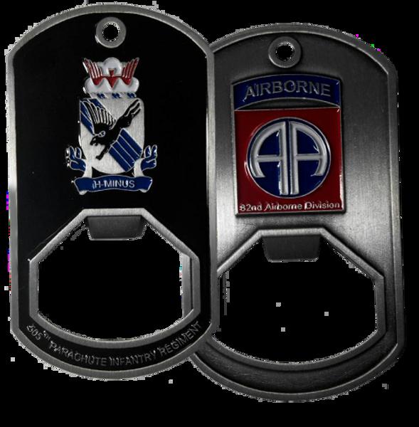 505th Parachute Infantry Regiment Dog Tag Bottle Opener