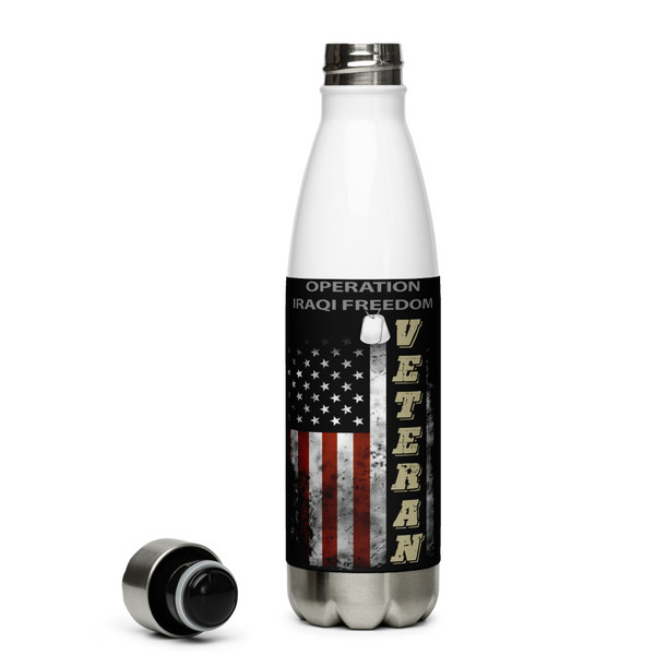 Operation Iraqi Freedom Veteran Stainless Steel Water Bottle