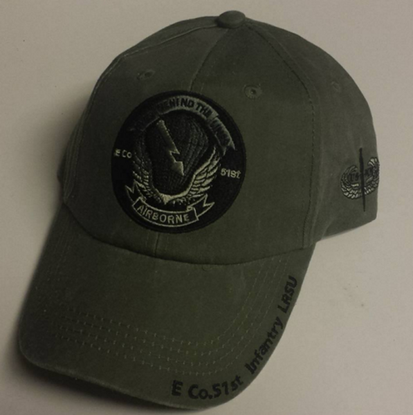 US Army E CO 51st Infantry LRSU Baseball Cap