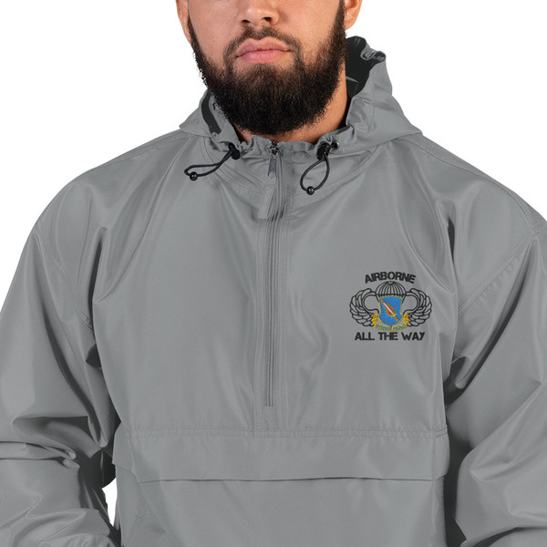 504 Airborne All the Way Embroidered Champion Packable Jacket