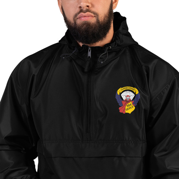 504 Devils Embroidered Champion Packable Jacket