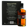 Highland Park 12 Year Old Single Malt Scotch Whisky 70cl & 2 Glass Gift Pack - Rear of gift box