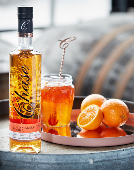 Chase Aged Marmalade Vodka served on a drinks tray