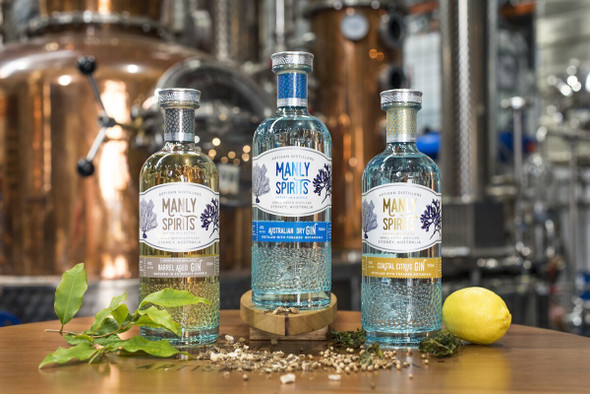Manly Spirits Co. Trio of gins and vodka