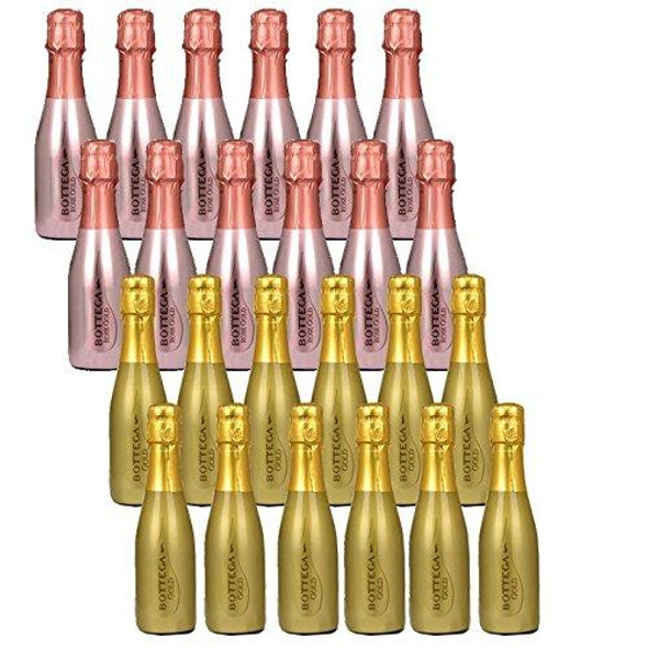 Prosecco Rose Gold and Gold Prosecco DOC Spumante Brut - Mixed Case, 20CL x 24