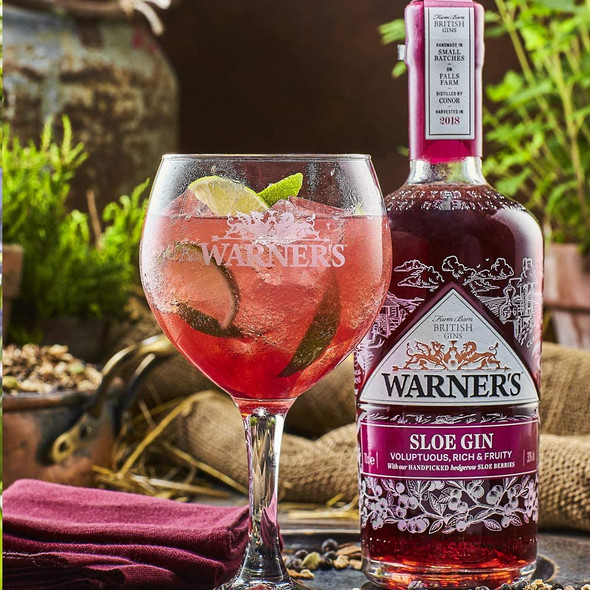 Warner's Sloe Gin, 70cl perfectly served