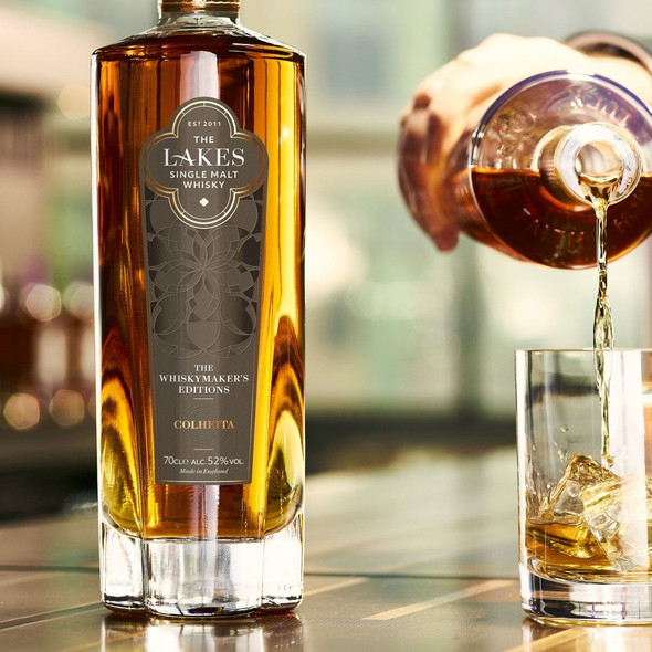 The Lakes Single Malt Whiskymaker's Editions - Colheita, 70cl, being served