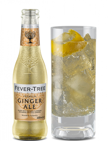 Fever-Tree Premium Ginger Ale, 200ml served in high ball glass with ice