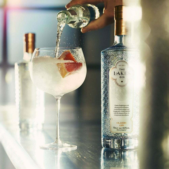 The Lakes Classic English Gin, 70cl & Copa Glass - Limited Edition Bundle. Perfectly served with Fever Tree Tonic Water