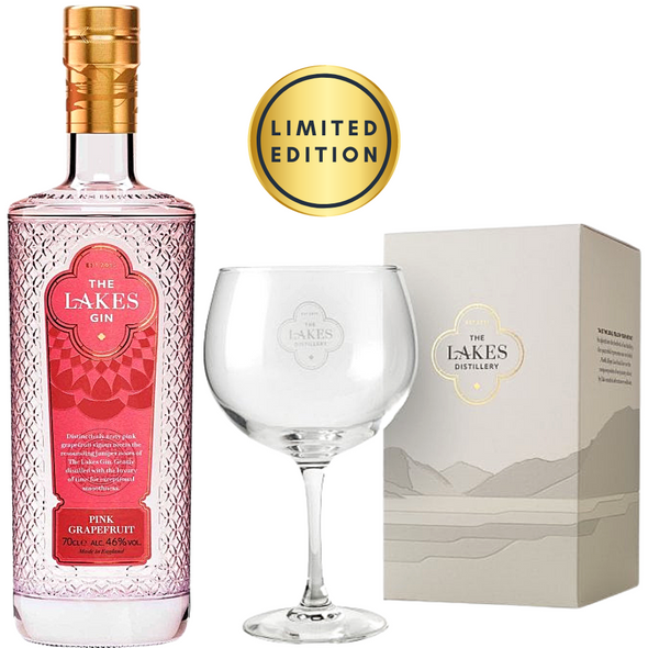 The Lakes Pink Grapefruit Gin, 70cl & Copa Glass - Limited Edition Bundle