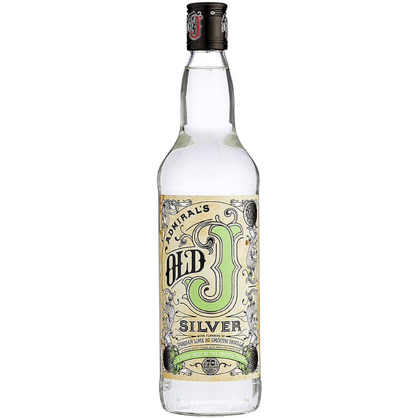 Old J Silver Spiced Rum, 70cl & Tin Mug - Limited Edition Set. Bottle of Silver Rum