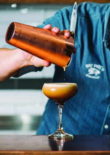Manly Spirits Co. Australian Blackfin Coffee Liqueur, 70CL poured from cocktail shaker