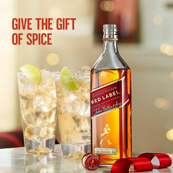 Johnnie Walker Red Label Blended Scotch Whisky, 70cl, give the gift of spice