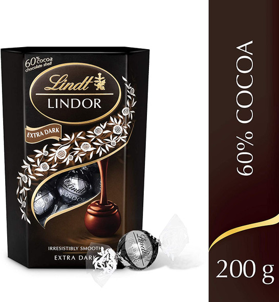 Lindt Lindor Dark Chocolate Truffles, 200g front of pack