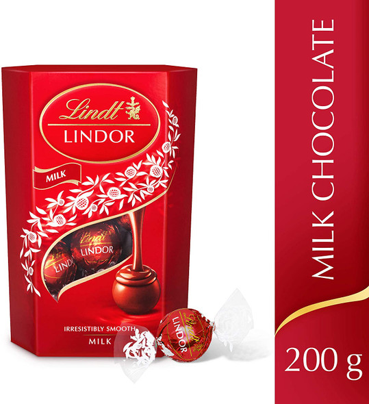 Lindt Lindor Milk Chocolate Truffles, 200g front of pack