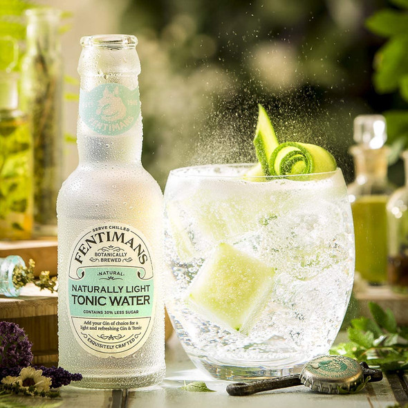 Fentimans Naturally Light Tonic Water, Case of 24 x 125ml create your perfect serve