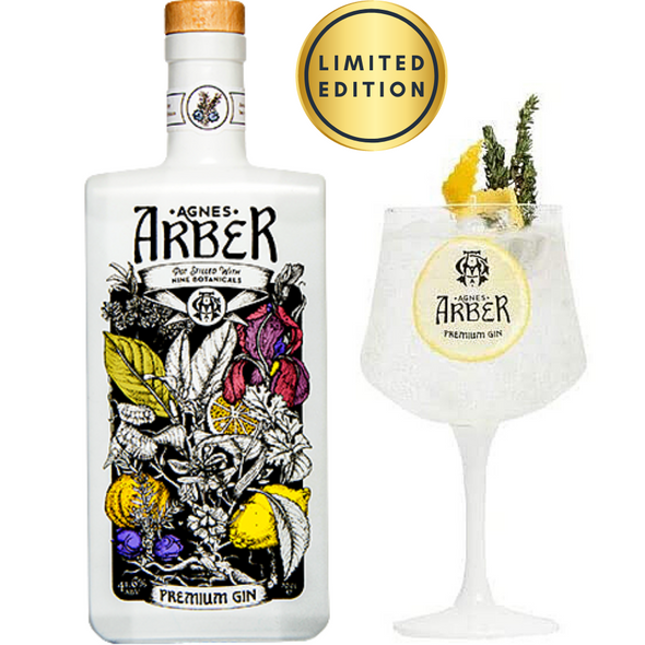 Agnes Arber Premium Gin, 70cl with Gin Glass - Limited Edition Set