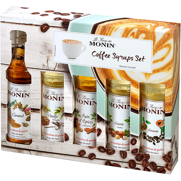 Monin Coffee Syrups Gift Set - side view