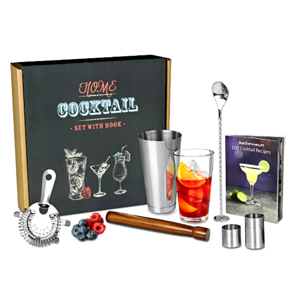 Home Cocktail Set with Cocktail Book