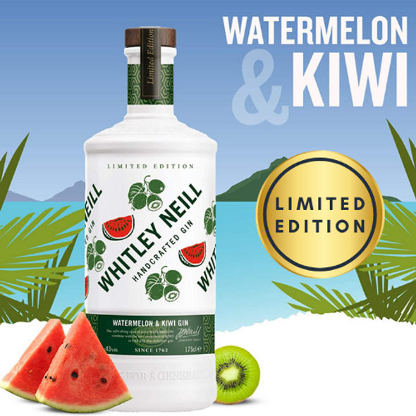 Whitley Neill Watermelon & Kiwi Gin, 70cl Limited Edition - The perfect summer drink