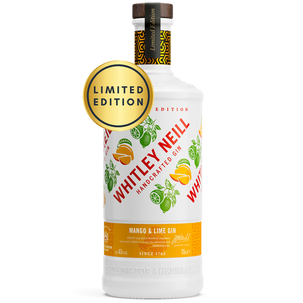 Whitley Neill Mango & Lime Gin, 70cl - Limited Edition