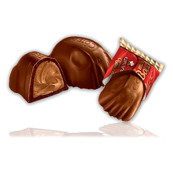 Cote D'or Milk Chocolate Bouchee Filled With Praline, 8 x 25g Opened wrapper