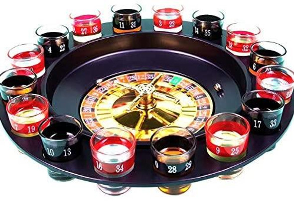 16 Drinking Shot  Glasses Wheel Roulette Adult Party Drinking Game