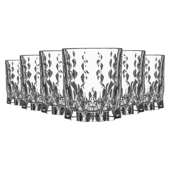 Marilyn Short Tumblers Whiskey Glasses, Set of 6 - serve your drinks in style