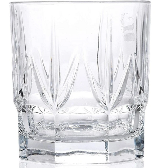 Chic Luxion Crystal Short Tumbler Glasses 430ml, Set of 6