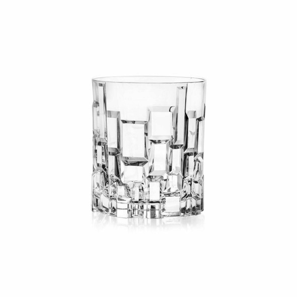 Etna Short Tumblers - Finest Luxion Crystal, Set of 6 perfect for dinner party whiskies