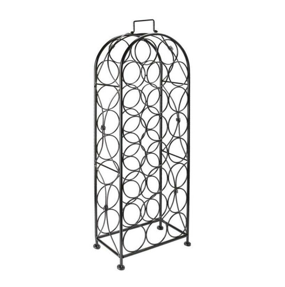 23 Bottle Tall Freestanding Wine Storage Rack - angle view 1