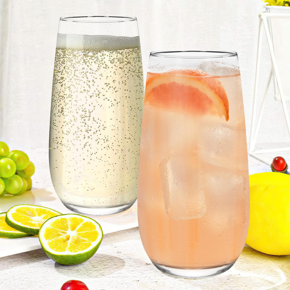 Esteem Highball Glass Tumblers - 490ml (16.5oz) Set of 6  for your perfect serve