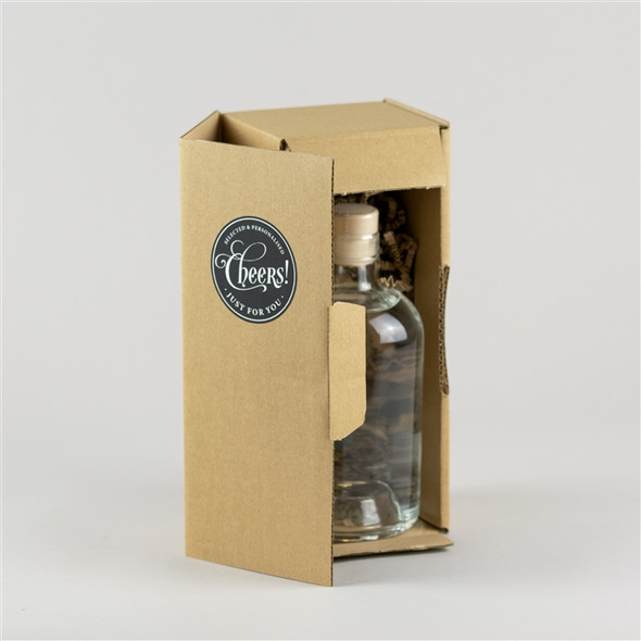 Personalised 'Gin Time' Engraved Bottle of English Gin, 70cl securely protected with shred packing