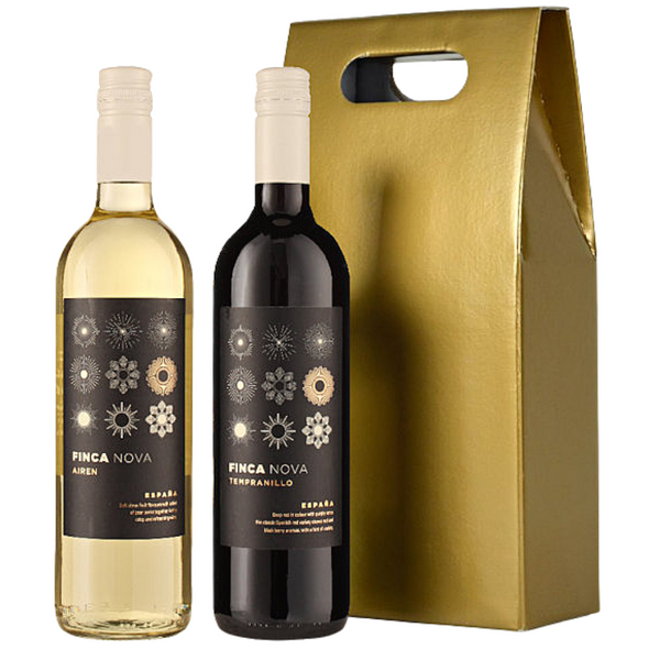 Duet of Red & White Spanish Wines in Gold Gift Box, 2 x 75cl