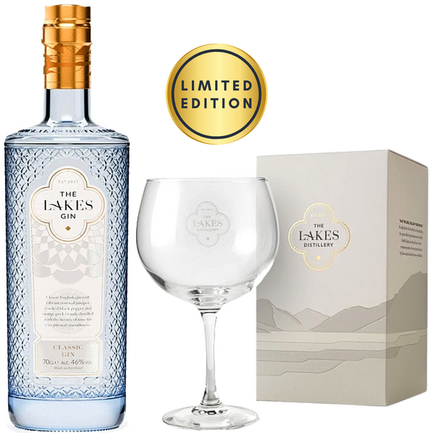 The Lakes Classic English Gin, 70cl & Copa Glass - Limited Edition Bundle