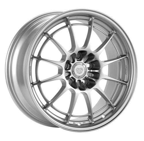 Enkei Racing 3658804435SP NT03+M 18X8 35mm Offset 5X112 19.4 lbs. 72.6 F1 Silver Wheel