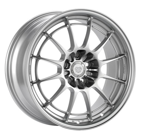Enkei 3658956527SP NT03+M F1 Silver Racing Wheel 18x9.5 5x114.3 27mm Offset 72.6mm Bore
