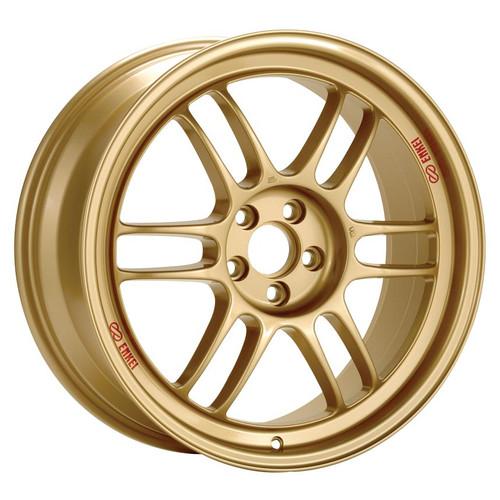 Enkei 3797808045GG RPF1 Gold Racing Wheel 17x8 5x100 45mm Offset 73mm Bore