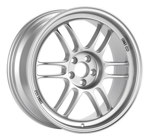 Enkei 3799808035SP RPF1 F1 Silver Racing Wheel 19x8 5x100 35mm Offset 73mm Bore