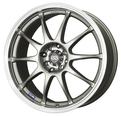 Enkei 409-770-11SP J10 Silver with Machined Lip Performance Wheel 17x7 4x100 4x108 42mm Offset 72.6m