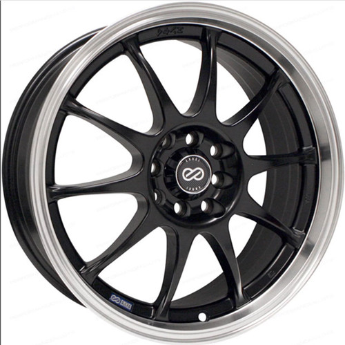 Enkei 409-875-03BK J10 Matte Black with Machined Lip Performance Wheel 18x7.5 5x108 5x115 38mm Offse
