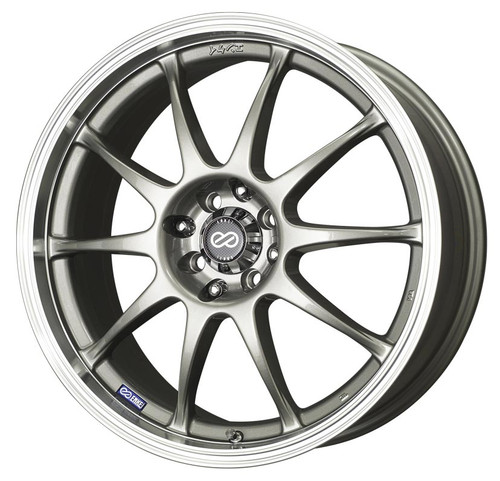 Enkei 409-875-10SP J10 Silver with Machined Lip Performance Wheel 18x7.5 4x100 4x114.3 42mm Offset 7