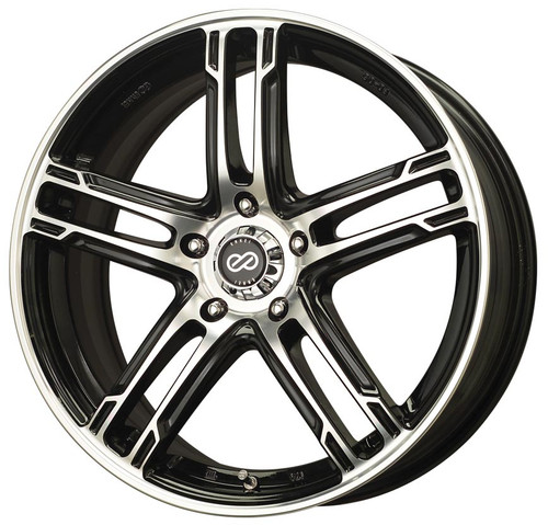 Enkei 434-770-6550BKM FD-05 Black Machined Performance Wheel 17x7 5x114.3 50mm Offset 72.6mm Bore