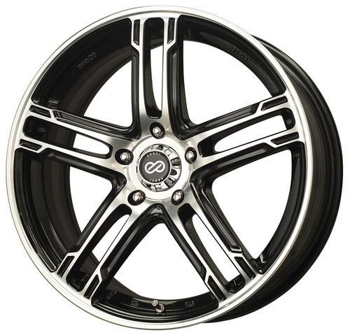 Enkei 434-875-4453BKM FD-05 Black Machined Performance Wheel 18x7.5 5x112 53mm Offset 72.6mm Bore