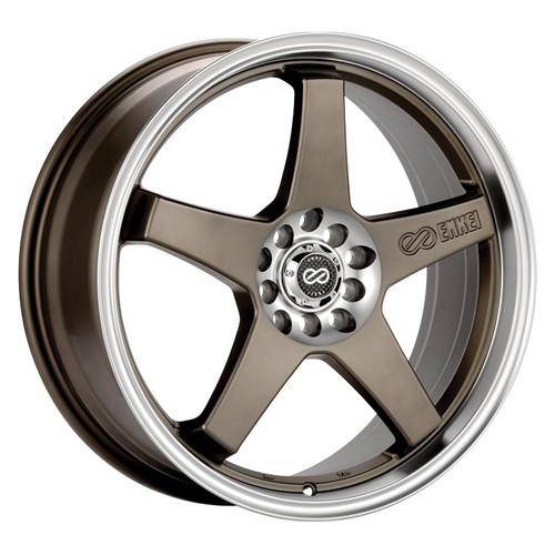 Enkei 446-770-1145ZP EV5 Matte Bronze with Machined Lip Performance Wheel 17x7 4x100 4x108 45mm Offs