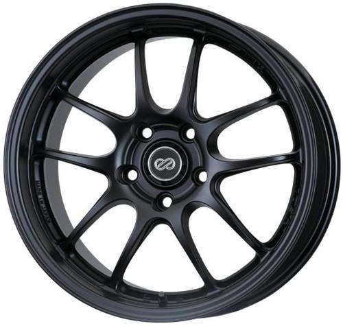 Enkei 460-580-4935BK PF01 Matte Black Racing Wheel 15x8 4x100 35mm Offset 75mm Bore